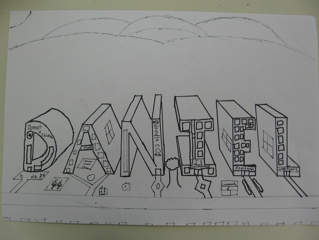 One Point Perspective Drawings