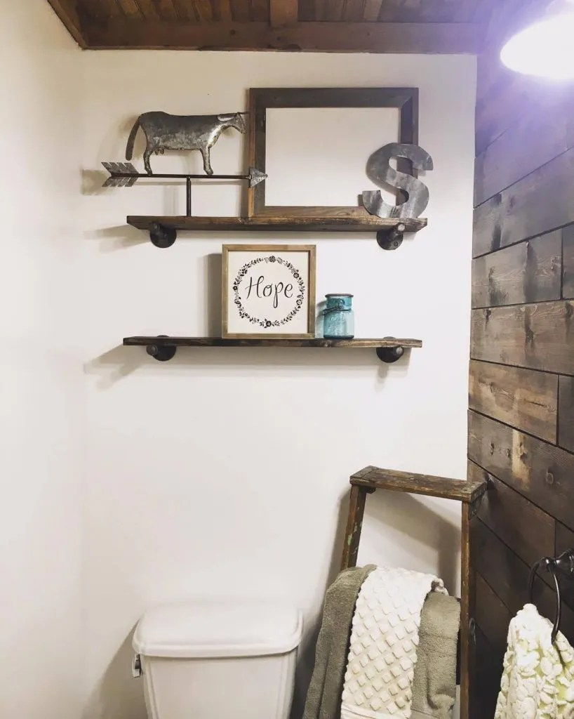 DIY Industrial Wall Shelves