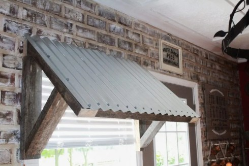 Corrugated Metal Awning Diy Two Paws Farmhouse