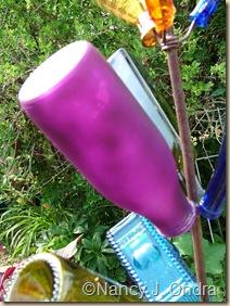 Frosted purple bottle