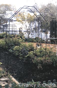 Copper arbor in Ondra garden Emmaus 2000