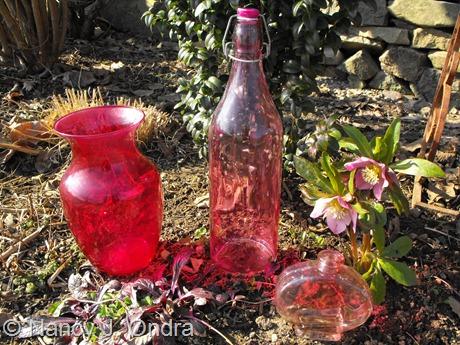 Pink glass ay Hayefield
