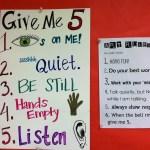 Elementary Art Room Organization