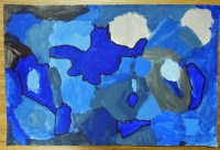 3rd Grade Monochromatic Paintings  Hayes Art Room