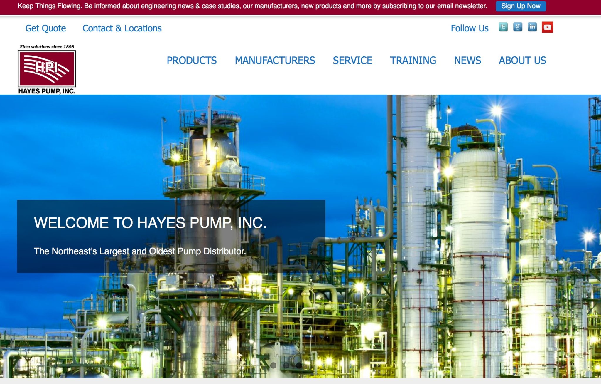 Hayes Pump New Web Site