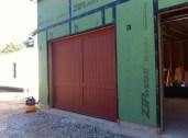 Garage door. Decorative hardware TBD.