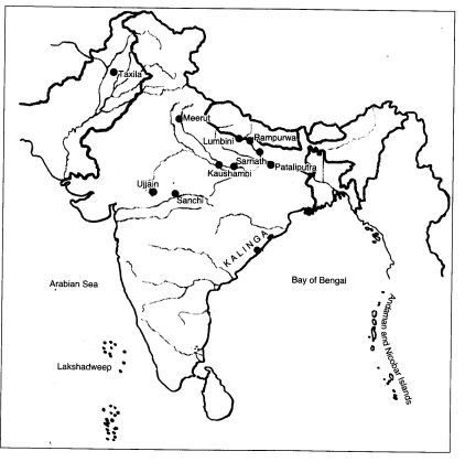 Map Of India Outline Political