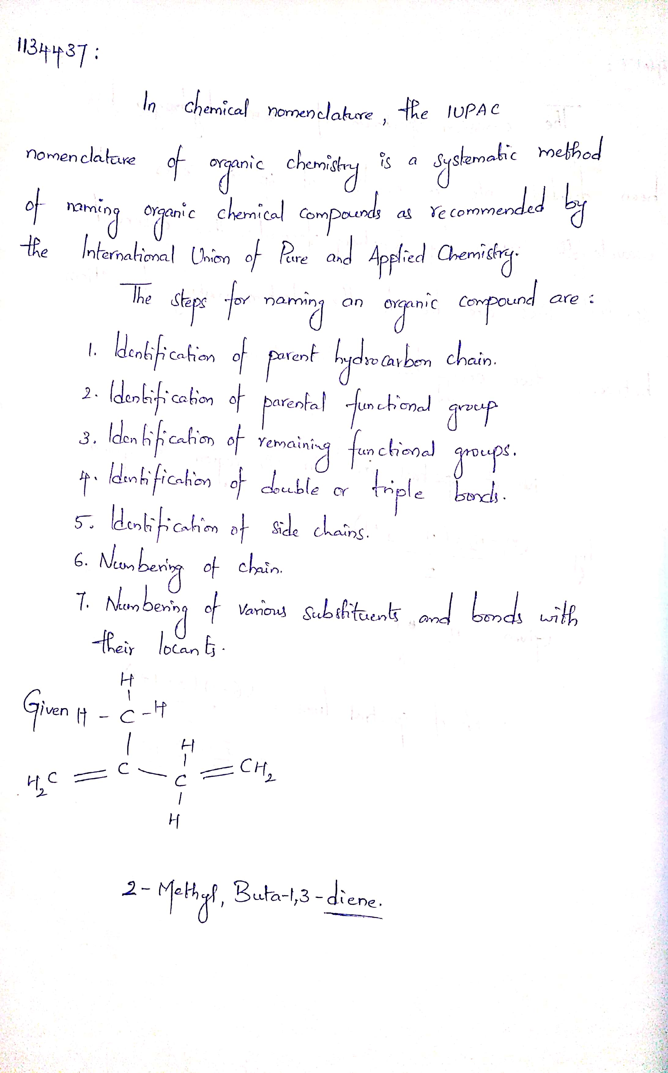 Write Iupac Name Of The Following Toppr