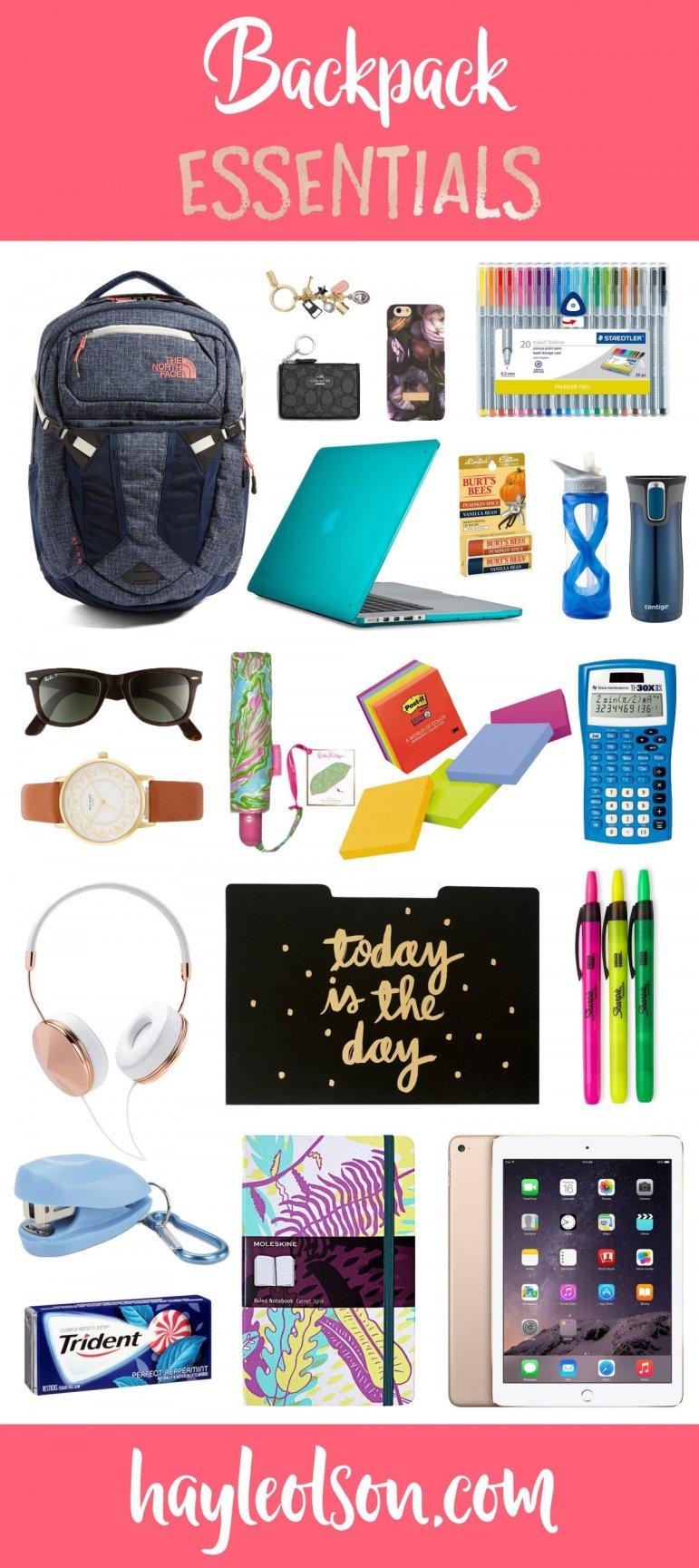 Backpack Essentials | Hayle Olson | www.hayleolson.com