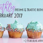 February 2017 Income & Traffic Report | Income Report | Hayle Olson | www.hayleolson.com