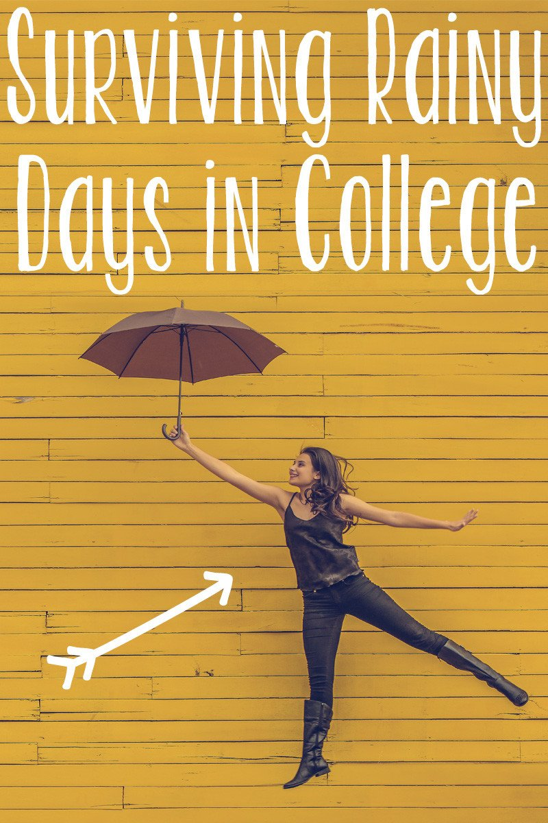 Surviving Rainy Days in College | hayle santella | www.haylesantella.com