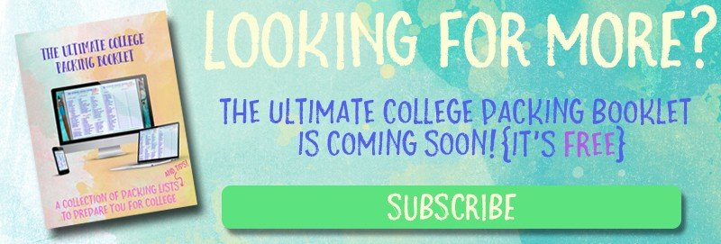 The Ultimate College Packing List | hayle santella | www.haylesantella.com