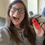 Hayle Santella Playing Nintendo Switch while self-isolating