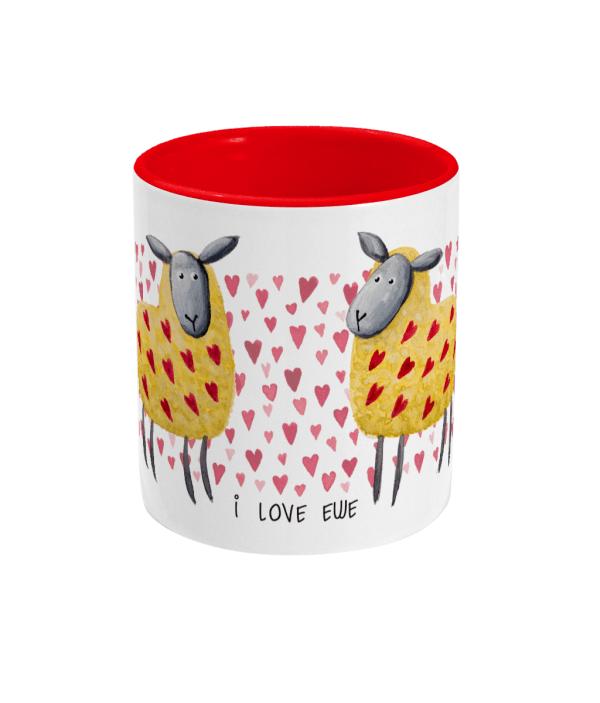 Valentines sheep two tone mug