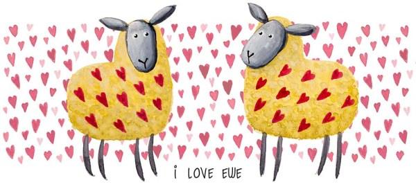 sheep valentines mug design