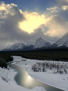 A river in the Albertan Rocky Mountains