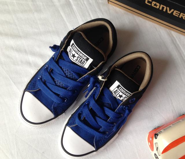 Boys Converse Trainers, Blue & Black