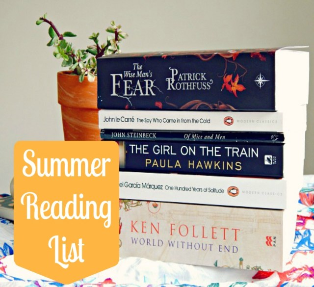 Summer Reading List 2016 - Summer Books from Hayley From Home
