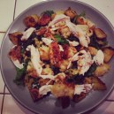 For our Valentine's Dinner at home, we made the Zuni Cafe Roast Chicken and Bread Salad, and it was epic. EPIC.