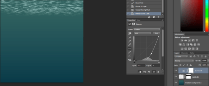 Use soft brush on layer mask to erase harsh edges and curves to match colours