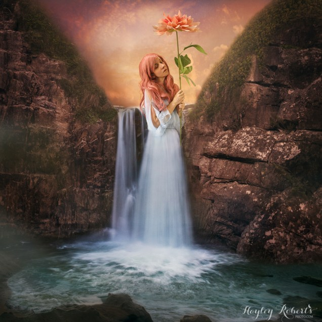 composite, fine art, conceptual, photography, photoshop, waterfall, magical realism