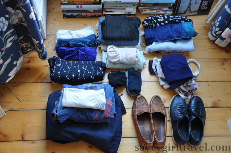 Packing Clothes Capsule Wardrobe