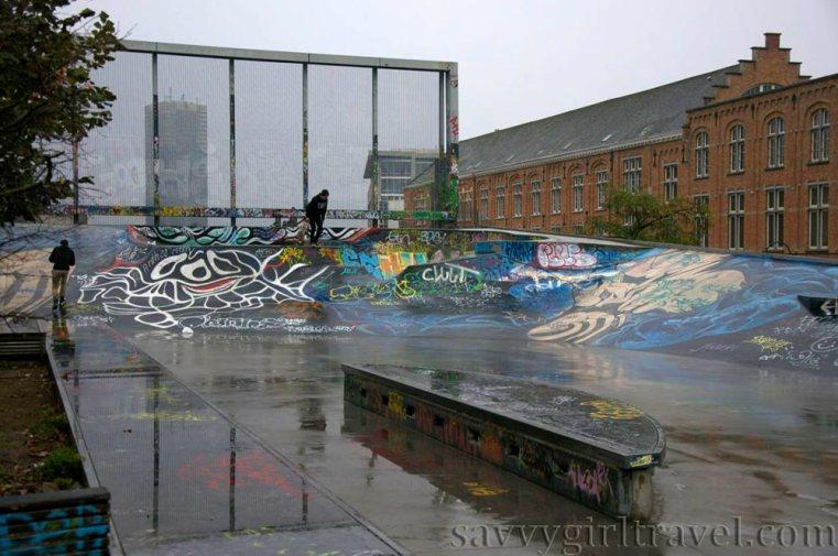 Brussels Belgium Skatepark des Ursulines Solo Female Traveler Travel Writing Workshops