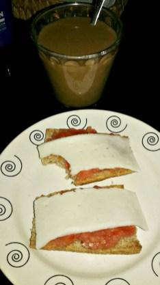 leche avena cafe soluble descafeinao tomate restregao queso light