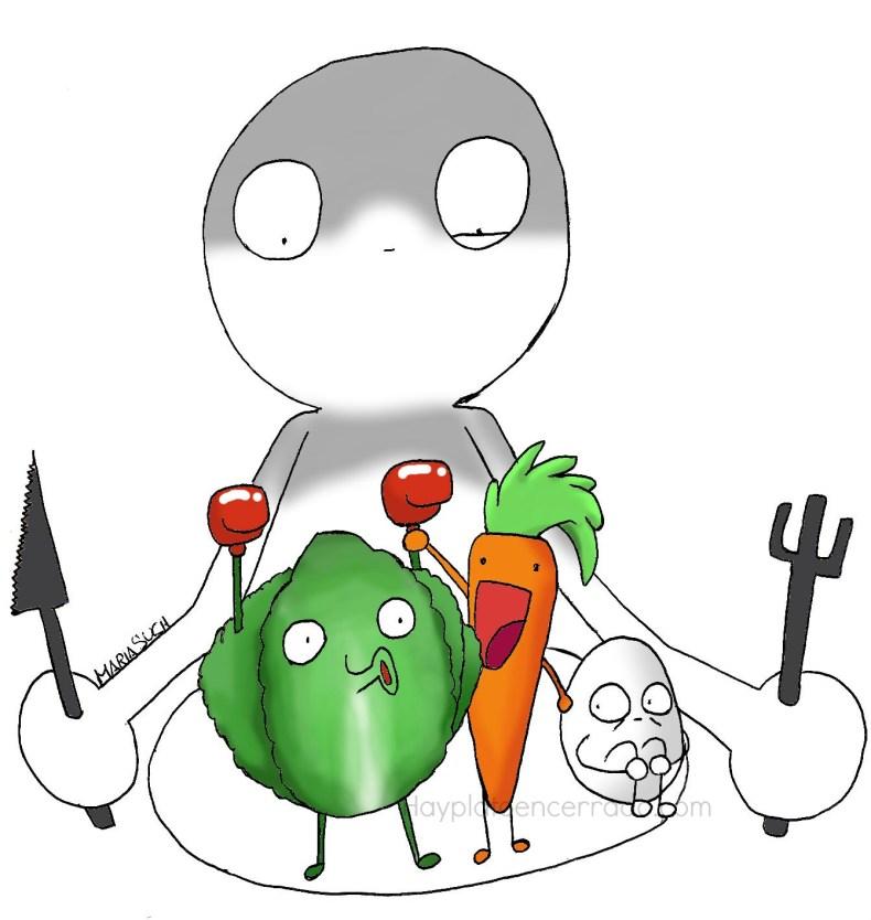 verduras racion viñeta marca agua