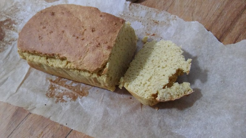 Pan de harina de garbanzo sin gluten