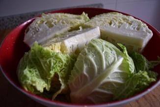 Kimchi con col rizada
