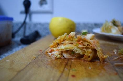 Kimchi de col rizada 1 semana