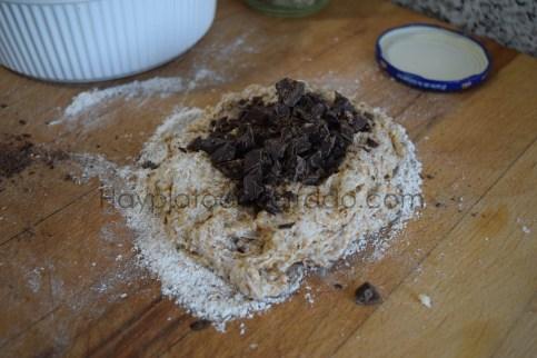 pan de pipas integral saludable con chocolate
