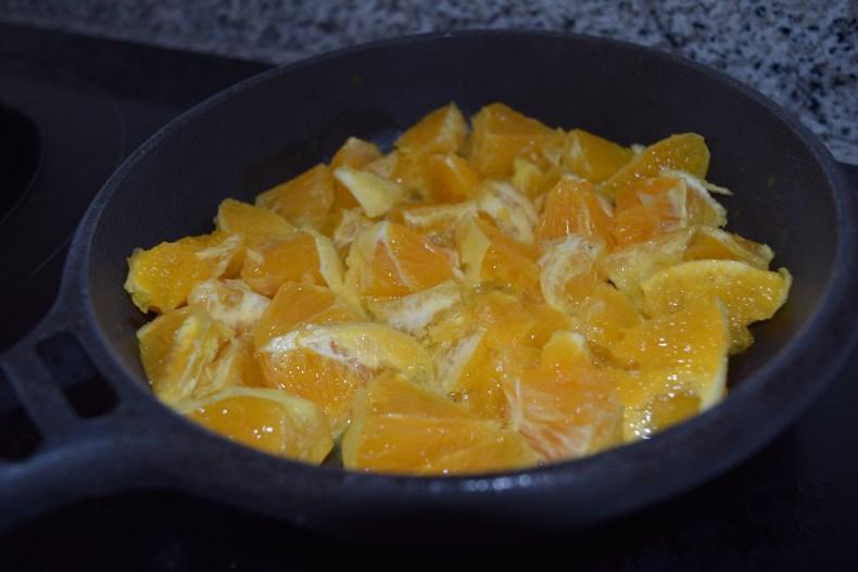 naranja sartén