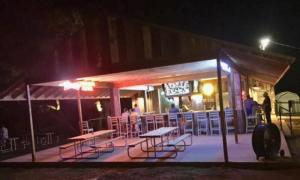 Hays City Ice House at Night