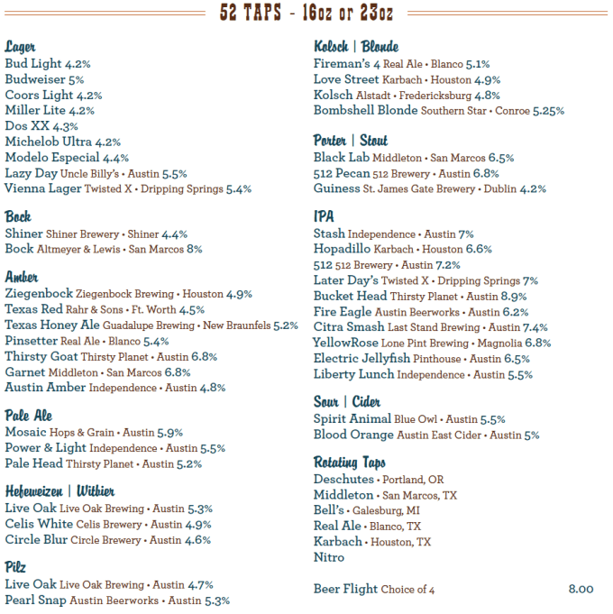 52 Beers on Tap