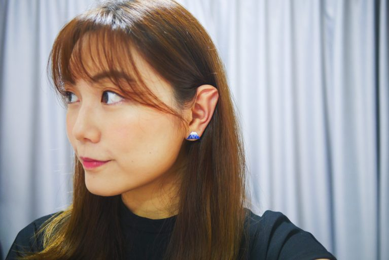 DIY clay ear studs