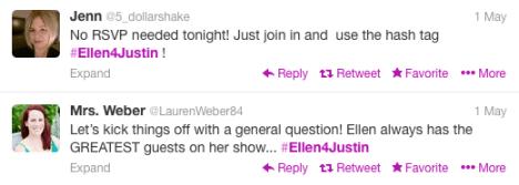 Ellen4Justin