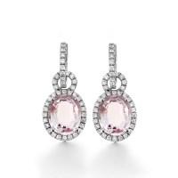 Amethyst and Diamond Huggie Earrings - Haywards of Hong Kong