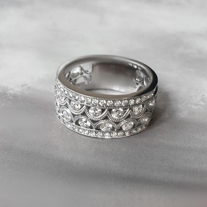 Vintage Style Diamond Cocktail Ring - Haywards of Hong Kong