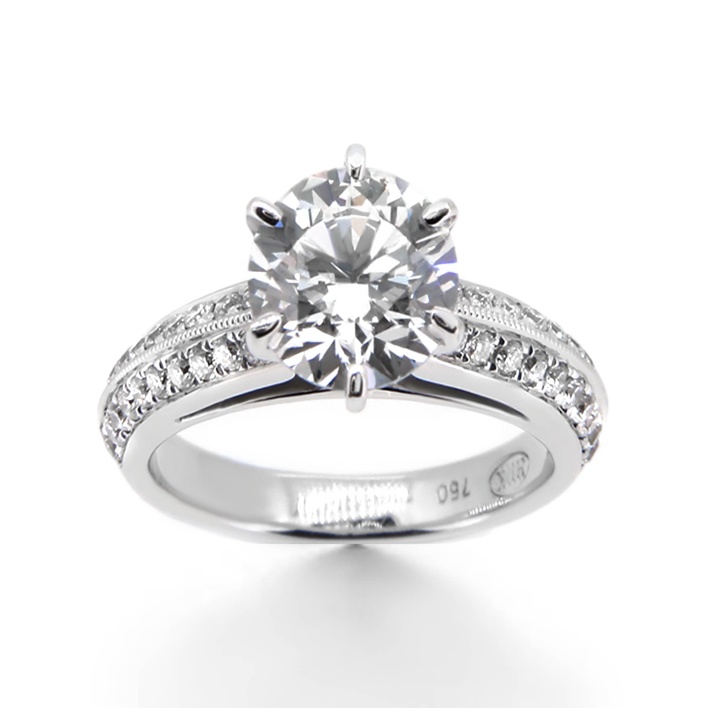 Six Prong Diamond Engagement Ring - Haywards of Hong Kong
