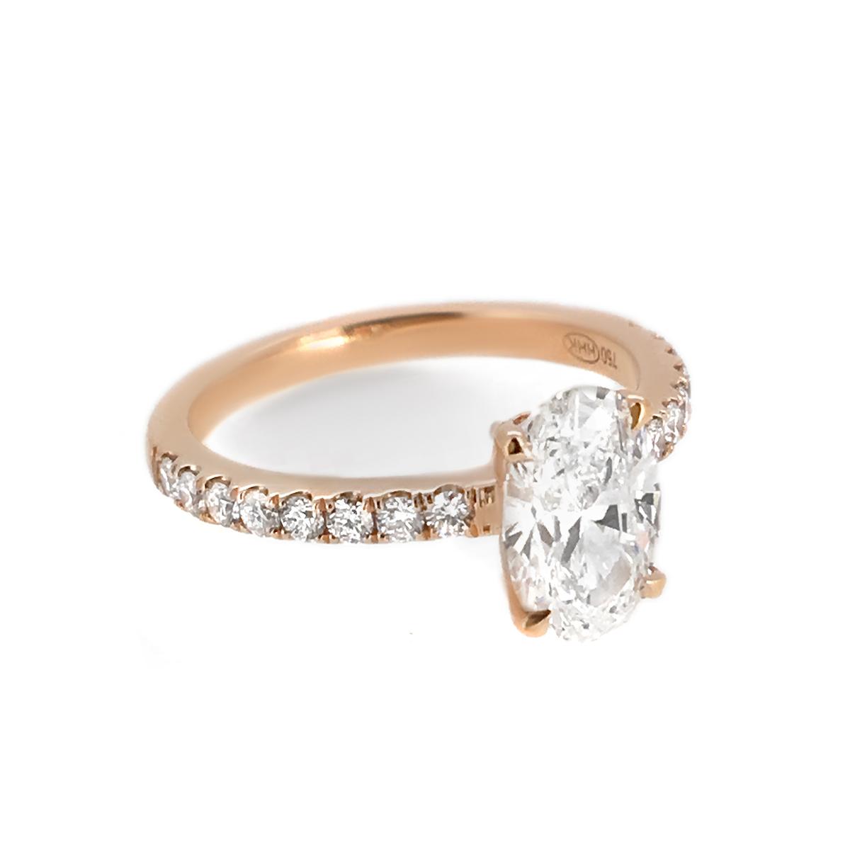 Oval Diamond Engagement Ring - Haywards of Hong Kong