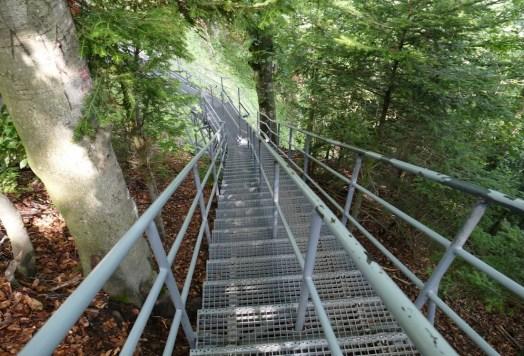 Az Okraglicára vezető lépcsősor