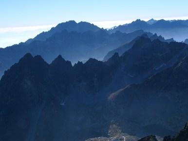 Kilátás a Lomnici-csúcsról