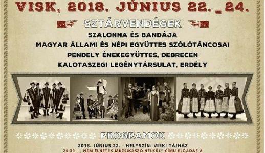Tájház, táncház, színház fesztivál és Koronavárosok Találkozója – Visk