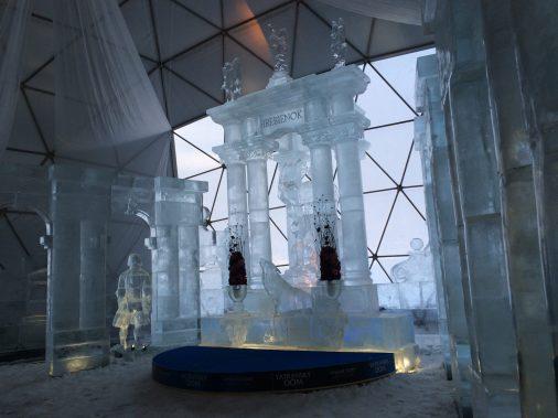 Tarajka: jégtemplom
