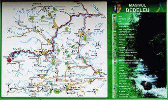 A Bedellői-havasok térképe