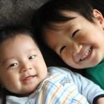 笑顔の兄弟