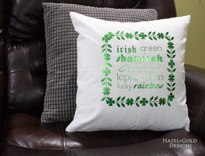 diy st patricks day pillow