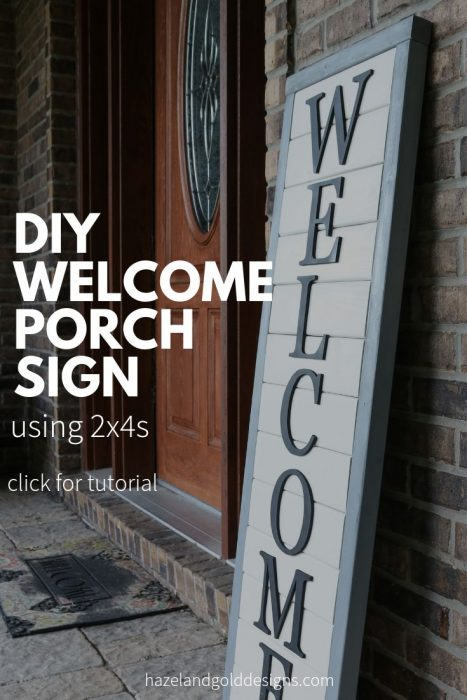 diy wooden welcome sign